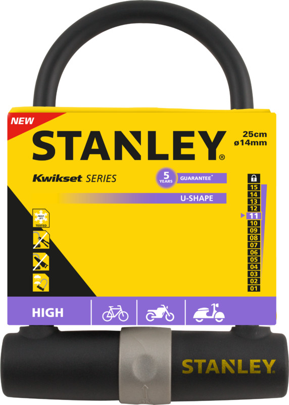 Lukko STANLEY pyöränlukot - 81301385111 Pyörän kaarilukko Ø14x247 - 6424600 - Stanley